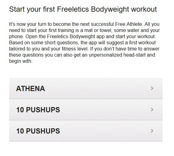 First Freeletics Bodyweight Workout
